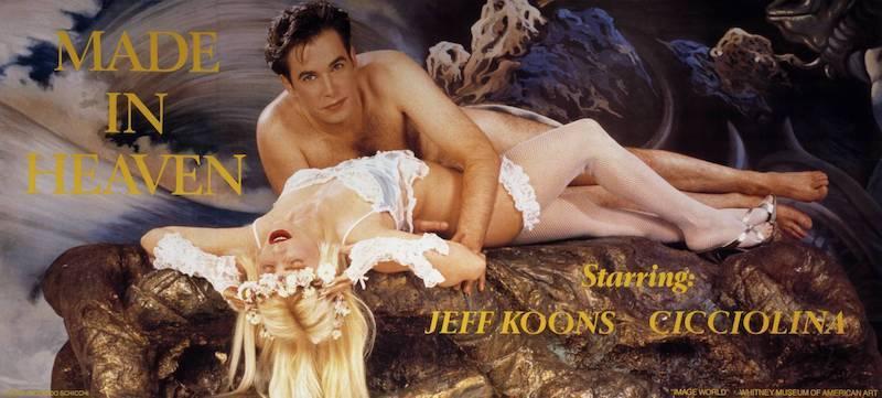 Jeff Koons och dåvarande frun Cicciolina.
