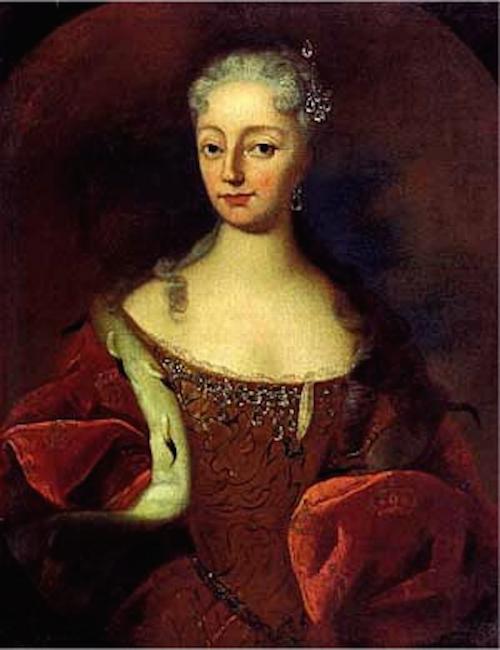 Porträtt av Anna den vackra drottningen