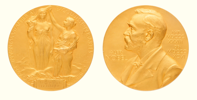 CHADWICK, JAMES. 1935 NOBEL PRIZE MEDAL AND COLLECTION OF RELATED MATERIALS