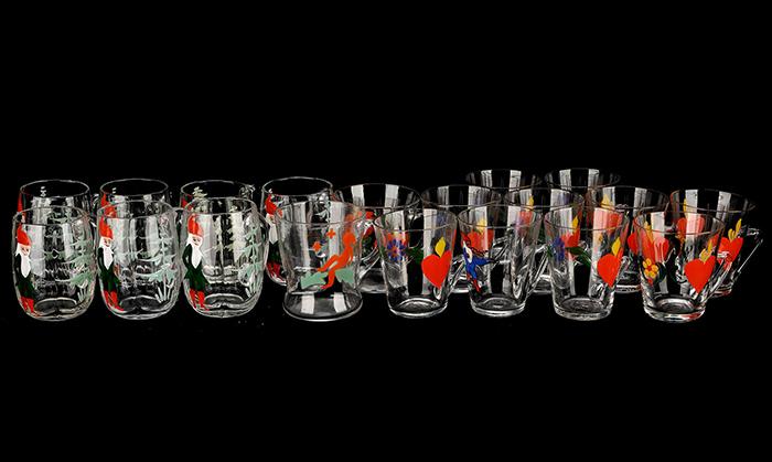 Glögglas, 19 stycken. Utrop: 600 SEK Formstad Auktioner