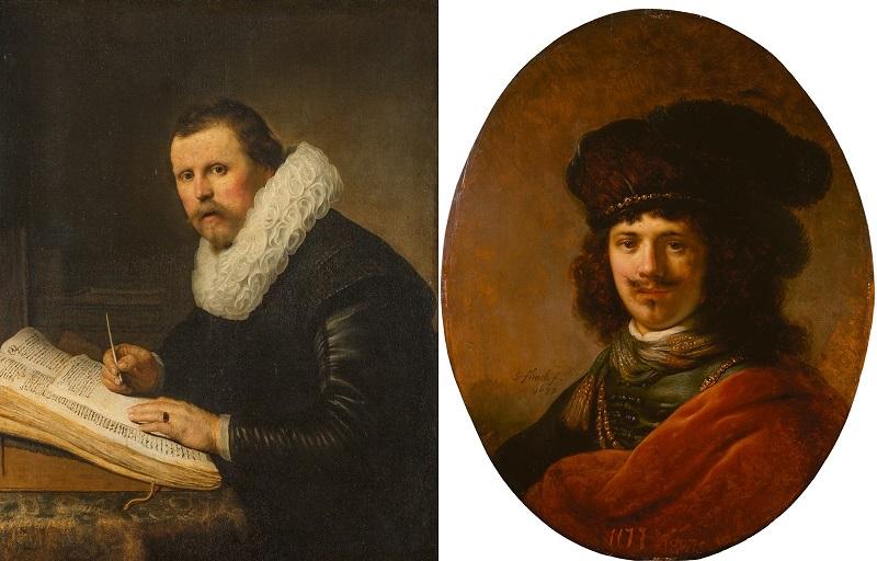 Izquierda: REMBRANDT VAN RIJN. Portrait of a Scholar (1631) © Museo Hermitage de San Petersburgo Derecha: GOVERT FLINCK. Portrait of a Young Man (1637) © Museo Hermitage de San Petersburgo
