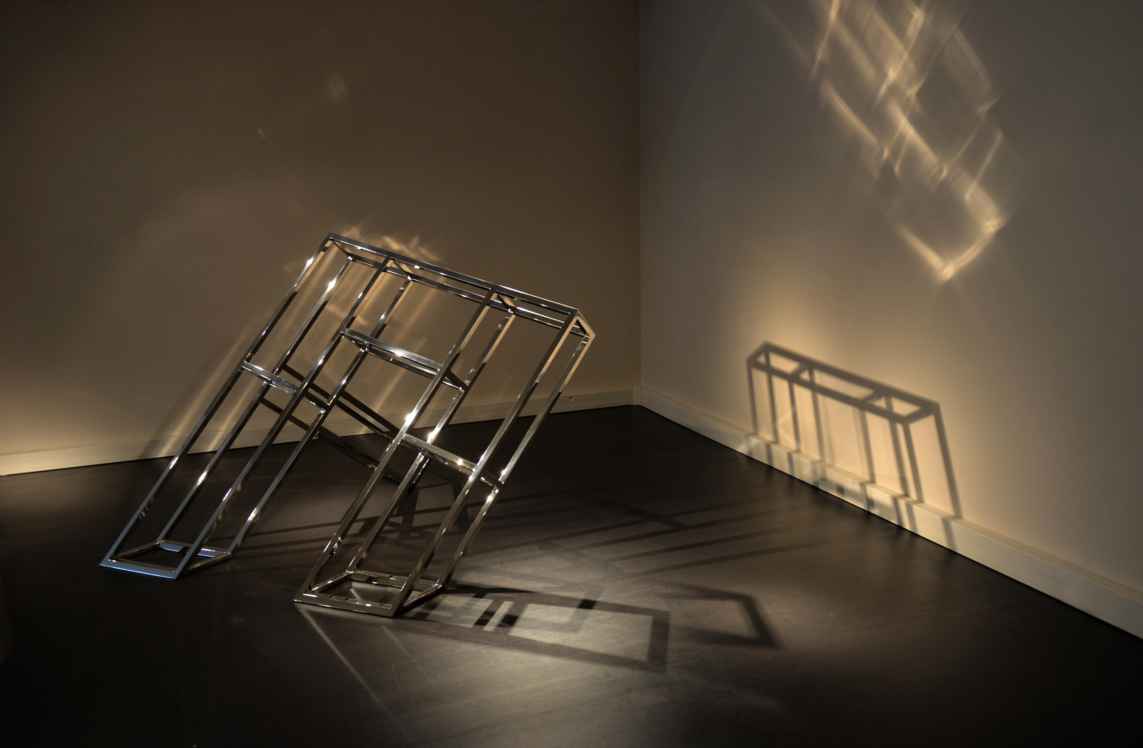 Pierre Marie Lejeune, Maxi Linea Mirror polished stainless steel, L.152 x H.144 x L.175 cm, 2015 Copyright Pierre Marie Lejeune