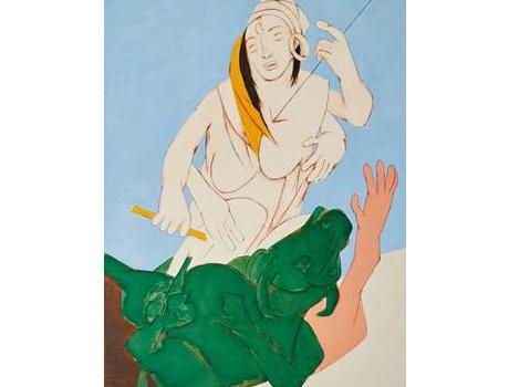 Tyeb Mehta, « Durga Mahisasura Mardini », image ©Sotheby's