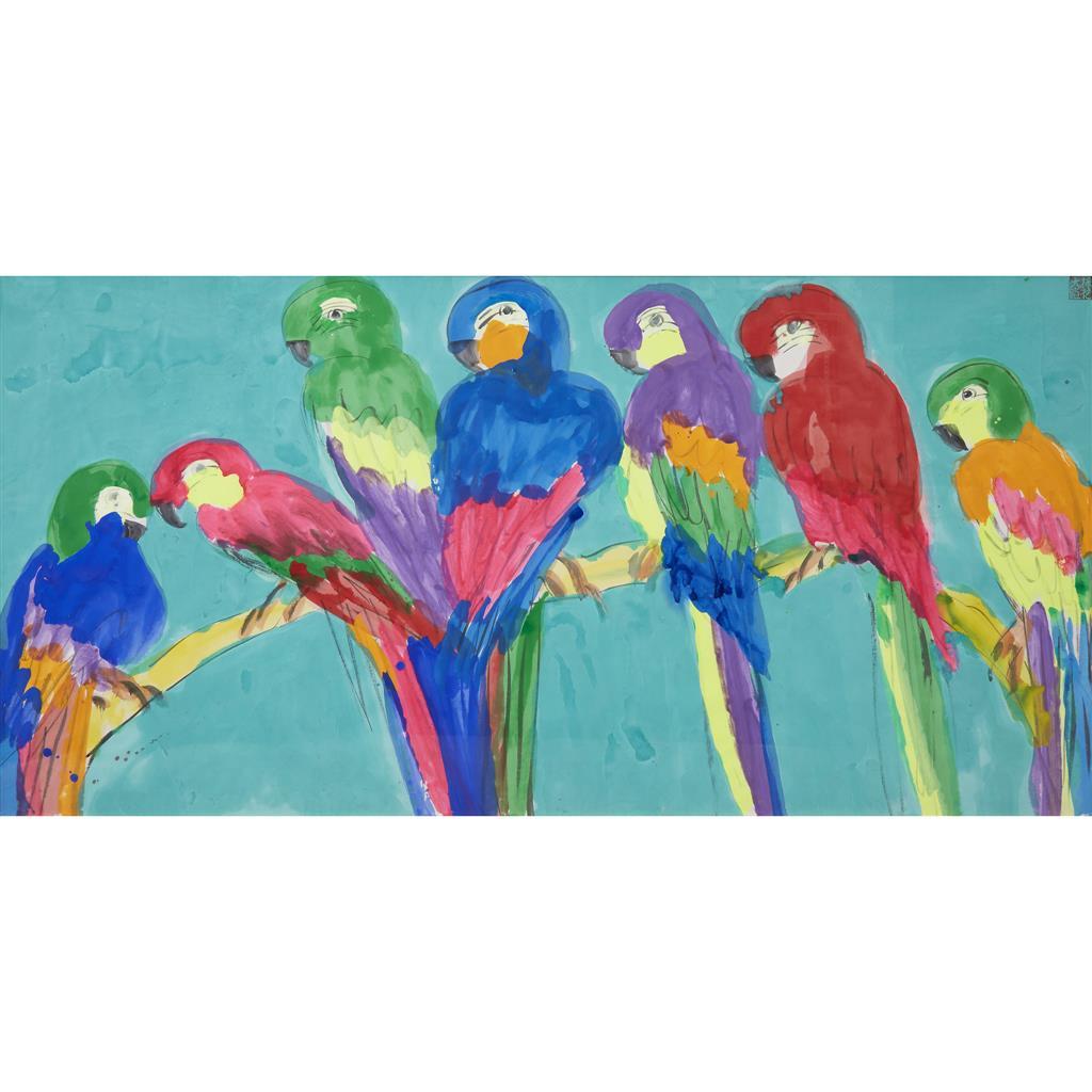 Walasse Ting, Seven ParrotsFreeman's