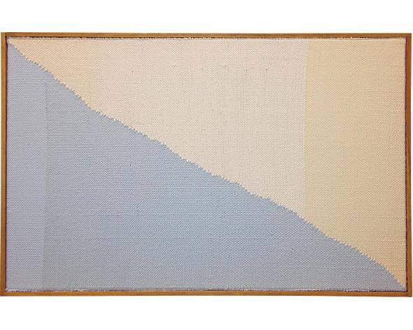 BRENT WADDEN Baby Blue / White, 2014. Low estimate: 15 200 USD. Image: Phillips.