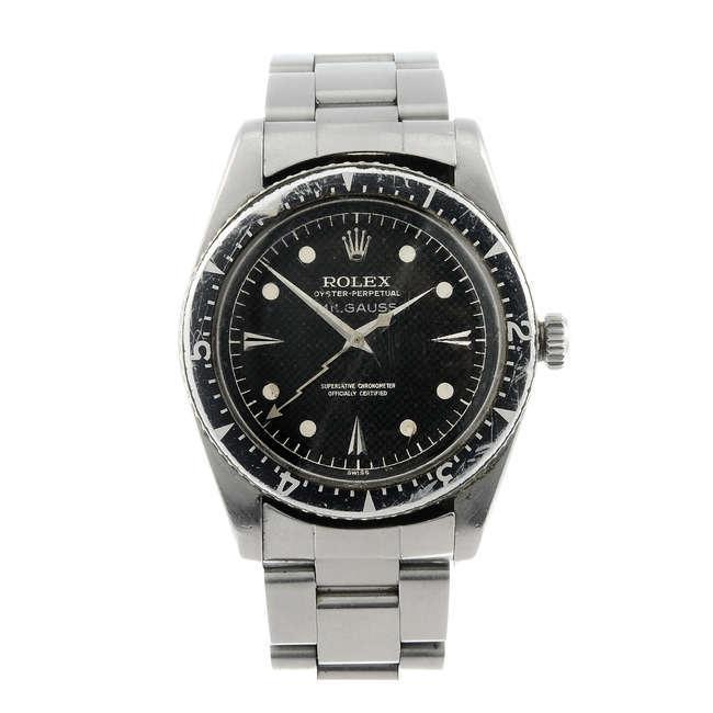 Une Rolex Oyster Perpetual Milgauss vendue pour un prix total de 139 400 livres sterling (commission incluse) Image via Fellows