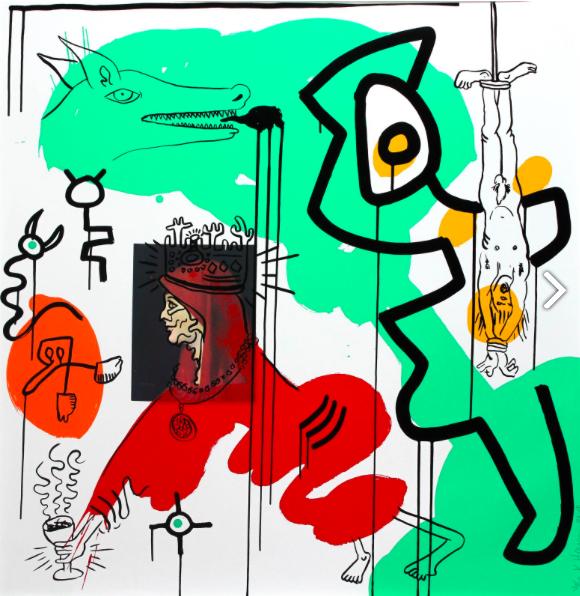 Keith Haring, Apocalypse, 1988 Sérigraphie sur papier, signée et numérotée 36 sur 90