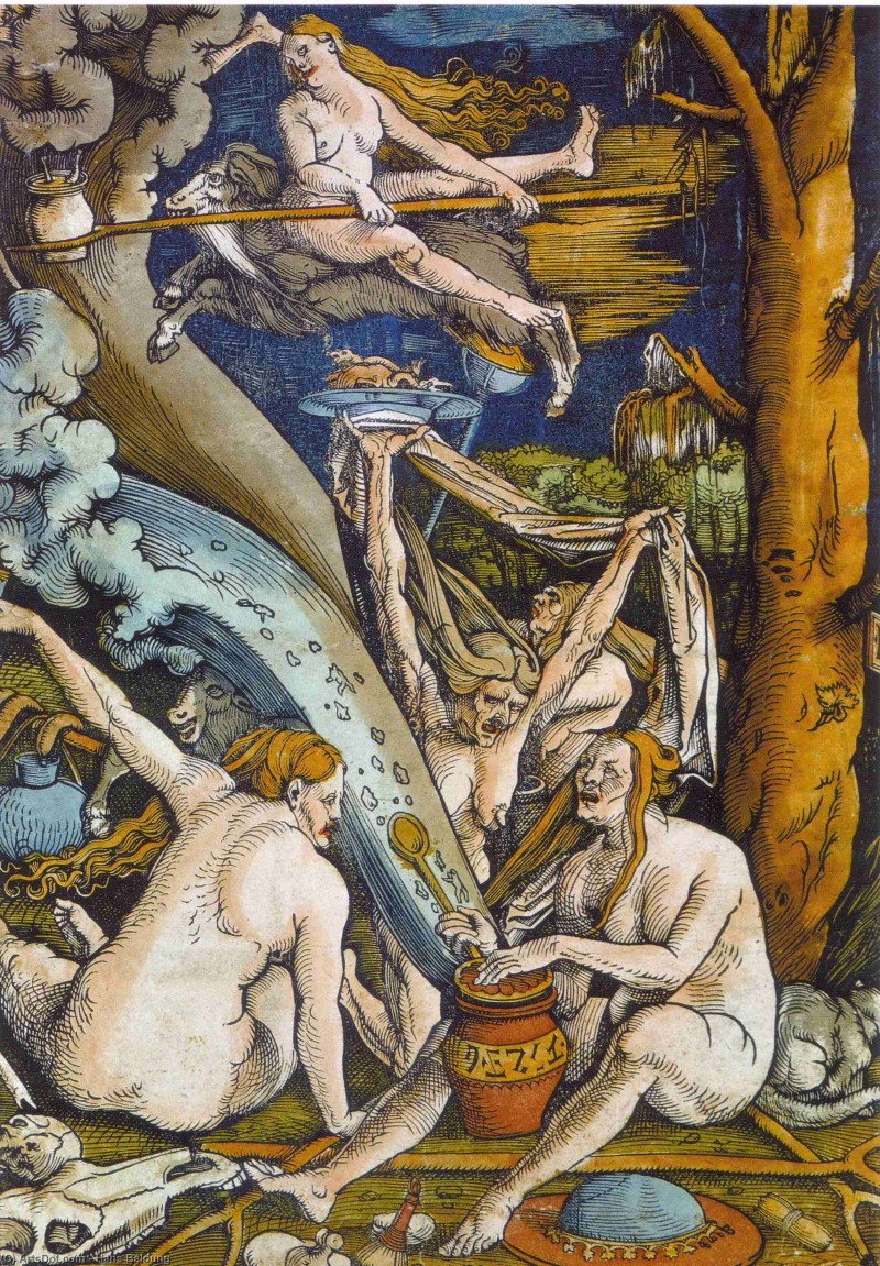 """Witches"" by Hans Baldung."