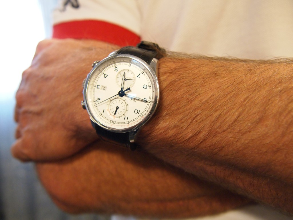 "VOR Wristshot: IWC ""Ocean Race"" on skipper Ian Walker."