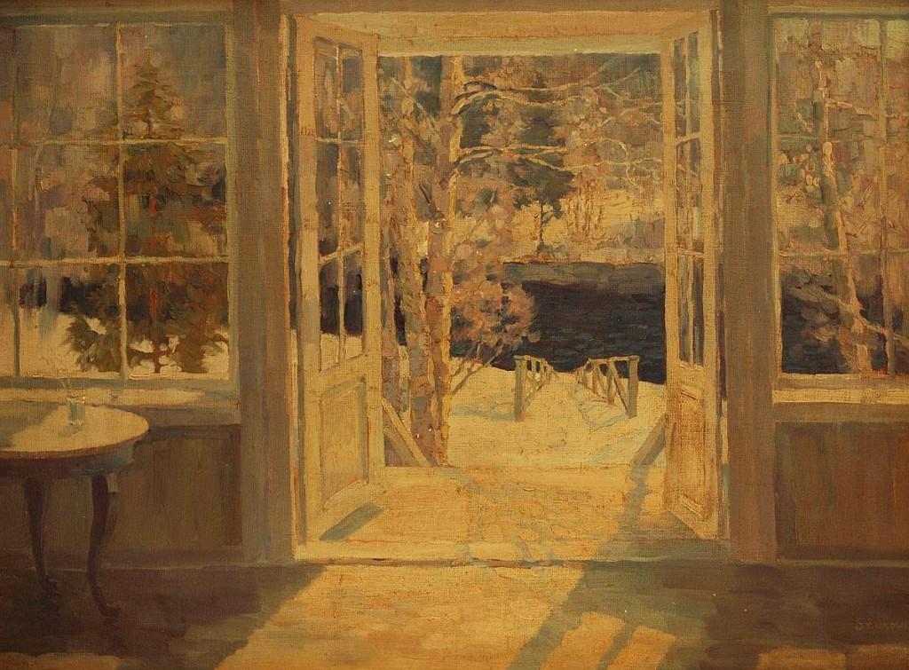 STANISLAW ZUKOWSKI (1873 Grodno - 1944 Pruszkow) - Veranda, Öl/Lwd., 59x79 cm, signiert Startpreis: 2.000 EUR