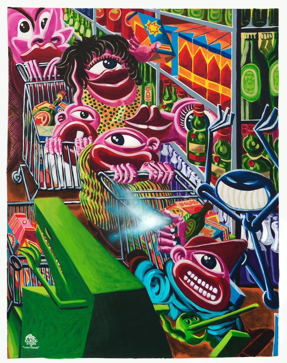 Hervé di Rosa - Pure classic supermarché, 2017 - AD Galerie