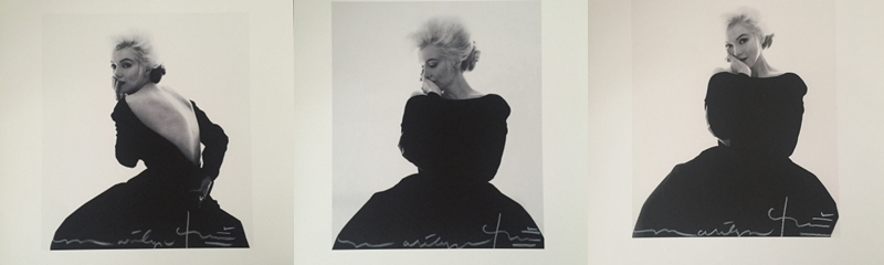 Izquierda: BERT STERN. Fotografía de Marilyn Monroe vestida por Dior. Firmada Centro: BERT STERN. Marilyn in Vogue (1962) Derecha: BERT STERN. Marilyn fotografiada en su última sesión para la revista Vogue
