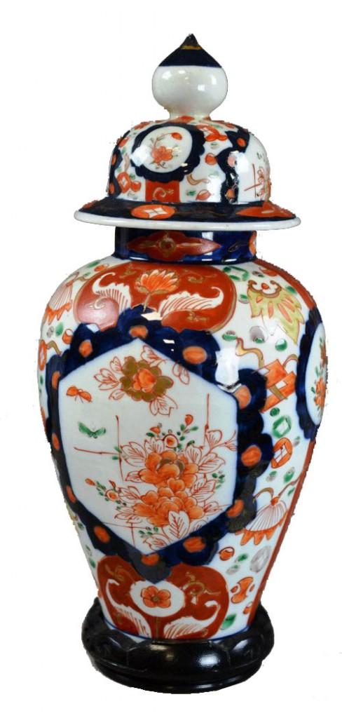Vase couvert en porcelaine imari, Japon Legia Auction