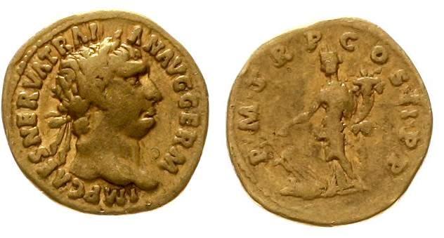 Römische Kaiserzeit - Trajan 98-117, Aureus Teutoburger Münzauktion