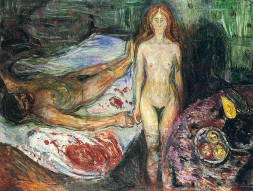 Edvard Munch, The Death of Marat, 1907 Image via The Independant