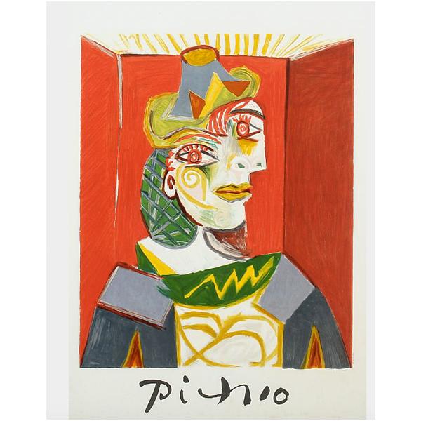 Picasso, litografi. På auktion hos Bruun Rasmussen.