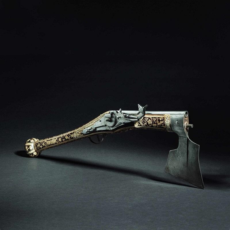 Hacha de batalla y arma de fuego. Nuremberg (1580). Precio estimado: 28.000 €