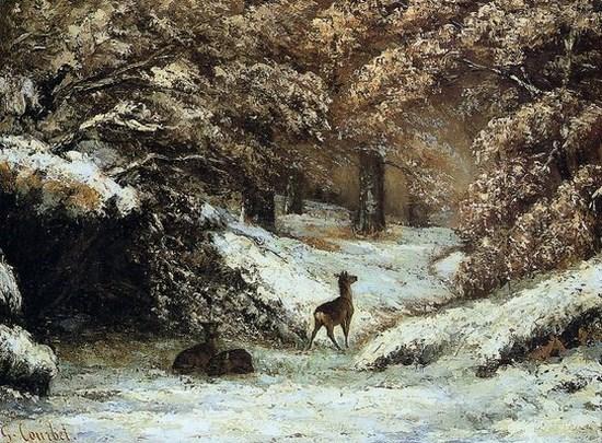 GUSTAVE COURBET - La remise des chevreuils en hiver, 1866