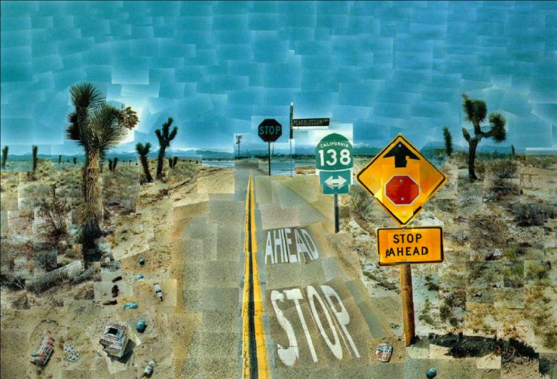 David Hockney, Pearblossom Highway, 1986, image © David-Hockney.org