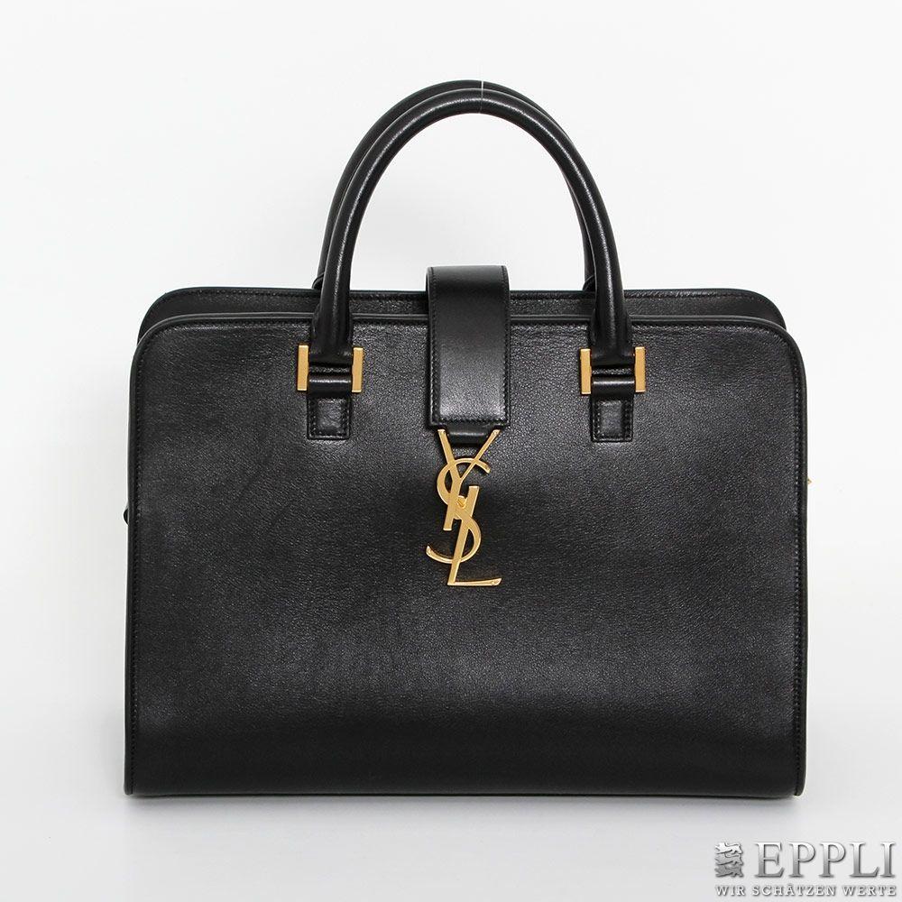 YVES SAINT LAURENT - Small Monogram Cabas Bag aus schwarzem Lammleder, Koll. 2015 Aufrufpreis: 720 EUR