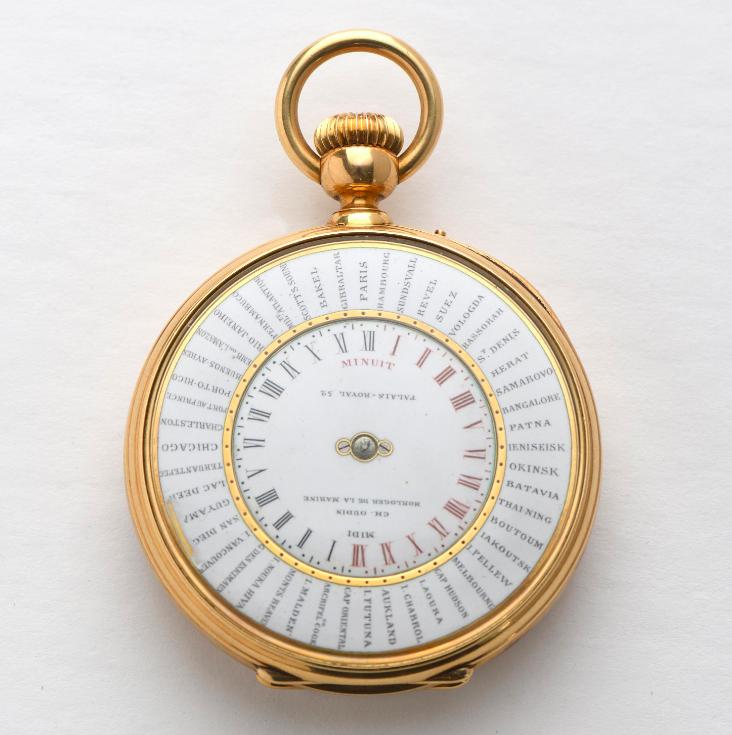 Charles Oudin, montre de gousset en or jaune 18K 750‰, estimation : 2 500 - 3 000 euros, image ©Magnin Wedry
