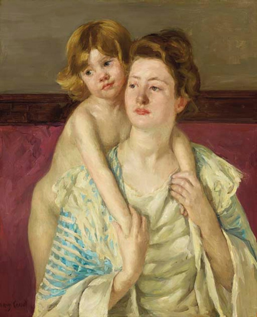Mary Cassatt, « Antoinette Holding Child by Both Hands », vers 1899, image ©Christie's