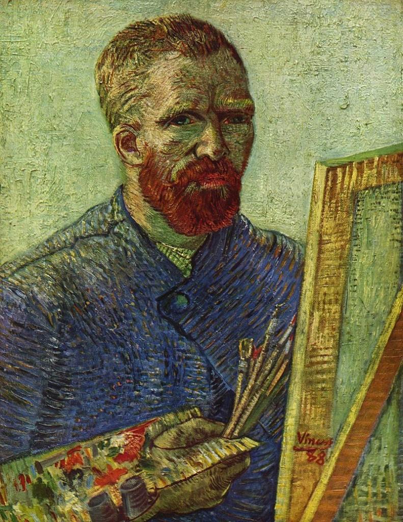 Vincent van Gogh - Selbstportrait vor Staffelei, 1888