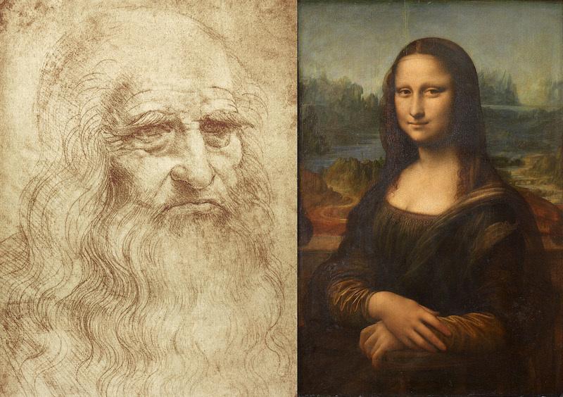 Léonard de Vinci, La Joconde, entre 1503 et 1506 ou entre 1513 et 1516, peut-être jusqu'à 1519 Musée du Louvre