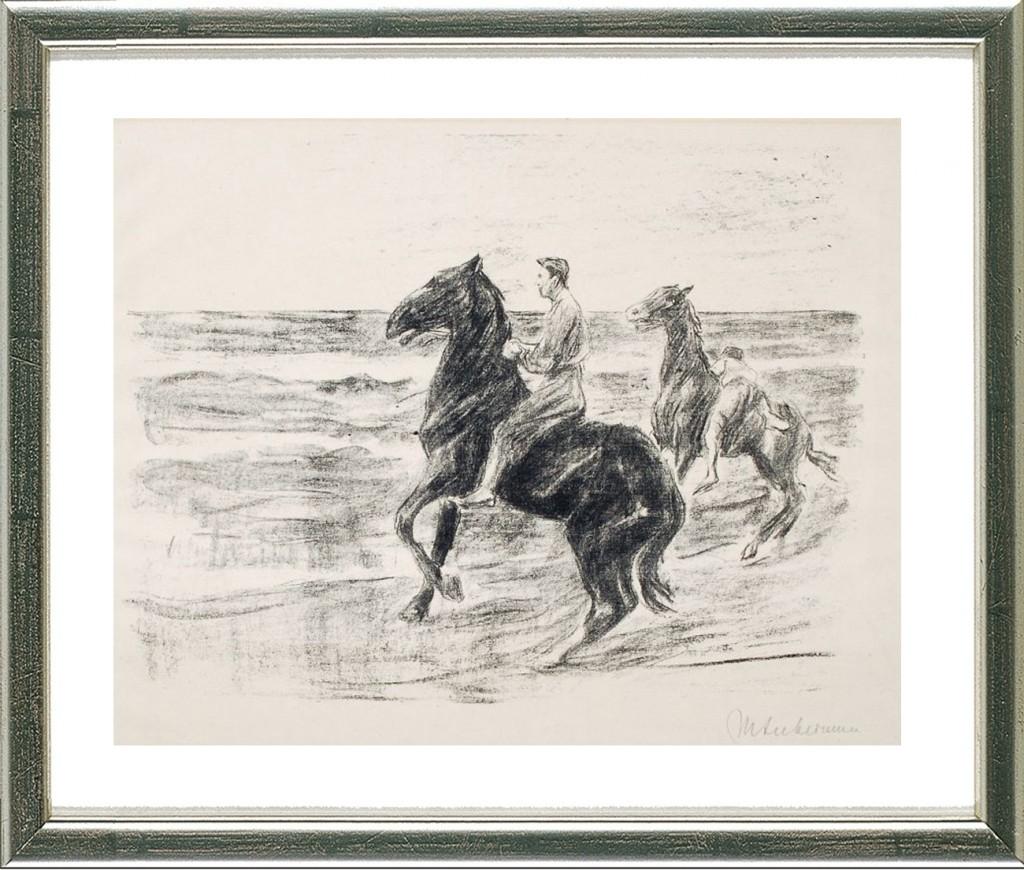 MAX LIEBERMANN - Reiter am Strande, Original-Lithografie, 29 x 34,5 cm, handsigniert, 1910 Preis: 1.750 EUR ARTEVIVA FINE ART