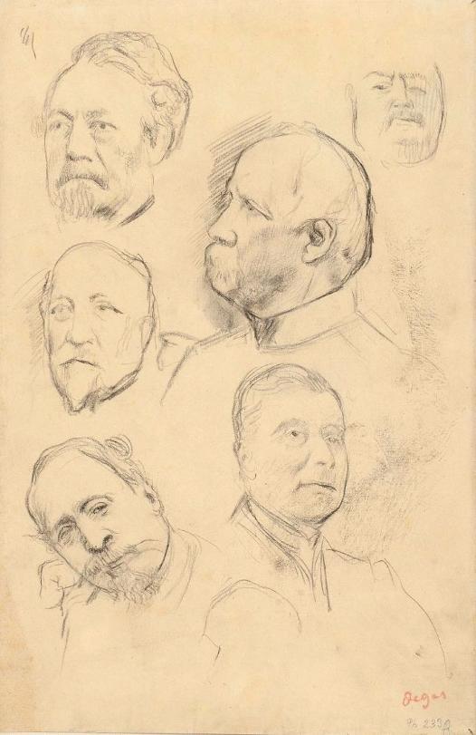 DEGAS Edgar (Paris, 1834 - Paris, 1917 ) «Napoléon III et les maréchaux: Canrobert, Niel, Bazaine et Mac-Mahon »