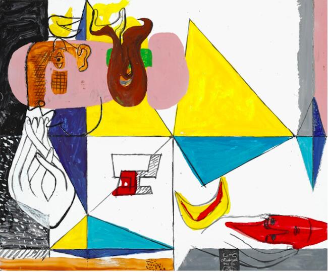 En av emaljmålningarna av Le Corbusier. Ropas ut för 600 000 - 700 000 danska kronor