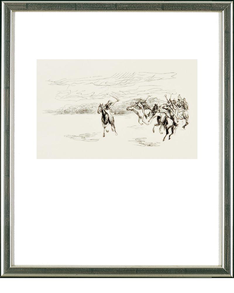 MAX LIEBERMANN - Polospieler, Holzschnitt, 8,2 x 16 cm, 1912? Preis: 590 EUR ARTEVIVA FINE ART