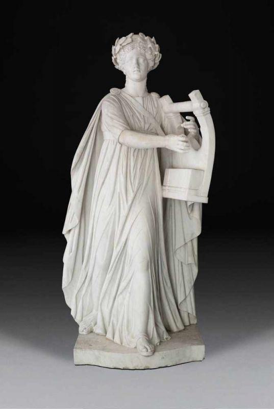 ANTONIO FRILLI (um 1850 - 1920 (?)) - Apollo Kitharoidos (auch Apollo Musagetes), weißer Carrara-Marmor, signiert