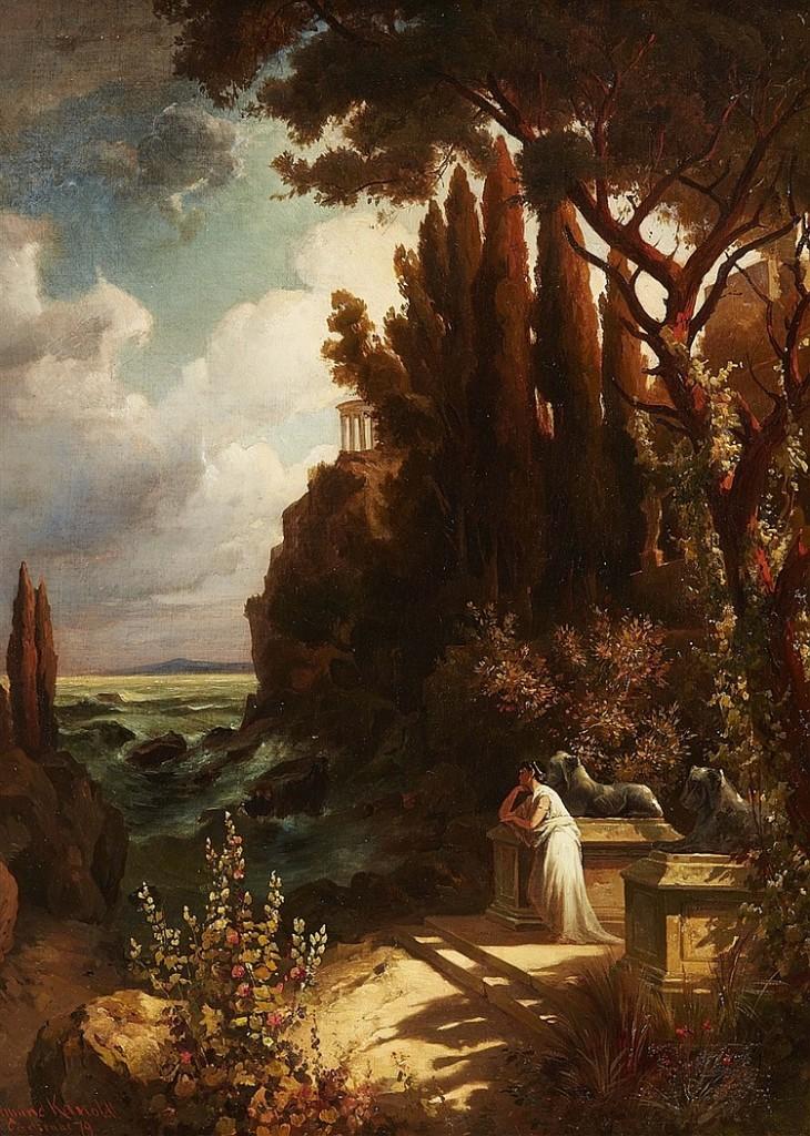 EDMUND FRIEDRICH KANOLDT (1845 Großrudestedt - 1904 Bad Nauheim) - Iphigenie auf Tauris, Öl/Lwd., signiert und datiert, 1879