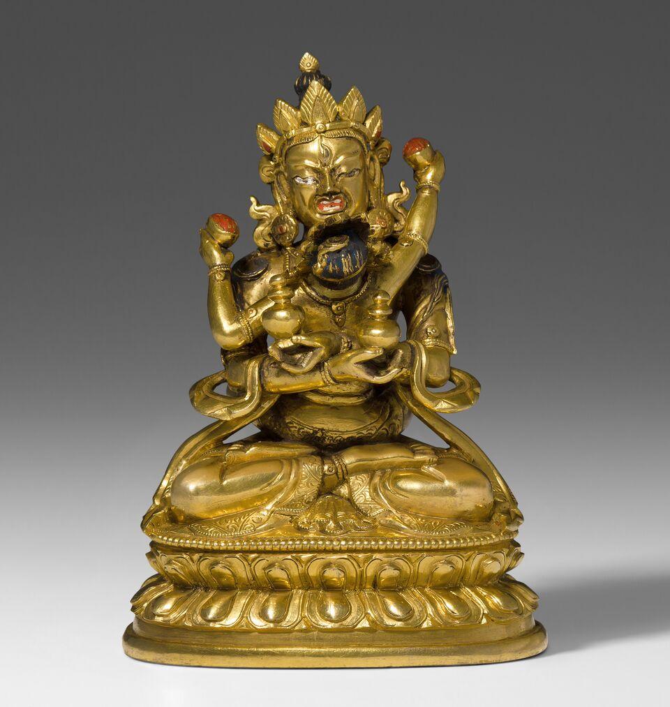 Sitasamvara in yab-yum, feuervergoldete Bronze, Tibet 18. Jh. Schätzung: 15.000-20.000 CHF (14.290-19.050 EUR)