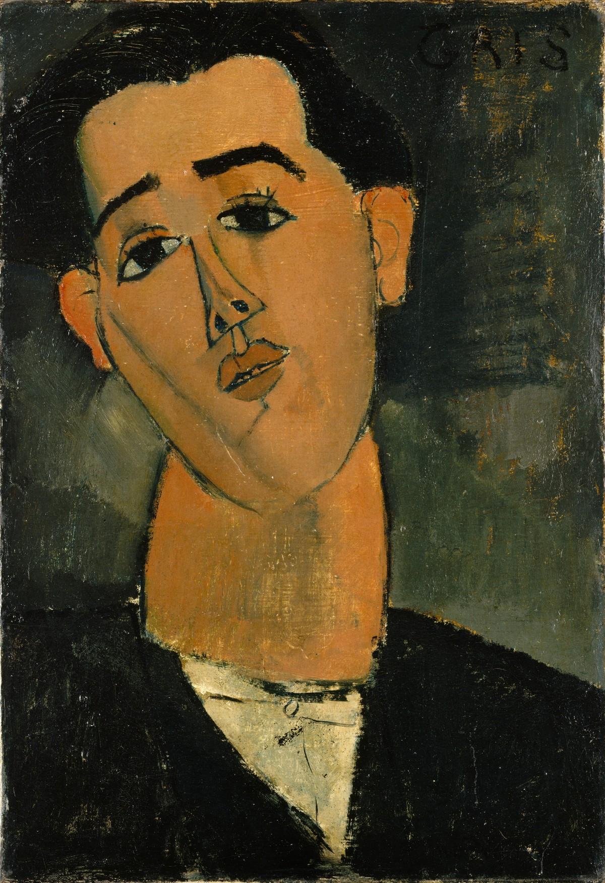 AMEDEO MODIGLIANI. Retrato de Juan Gris. Imagen vía: Wikipedia