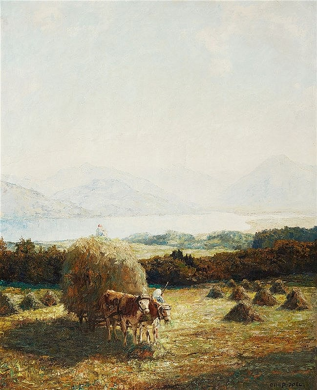 Otto Pippel, Heuernte am Tegernsee