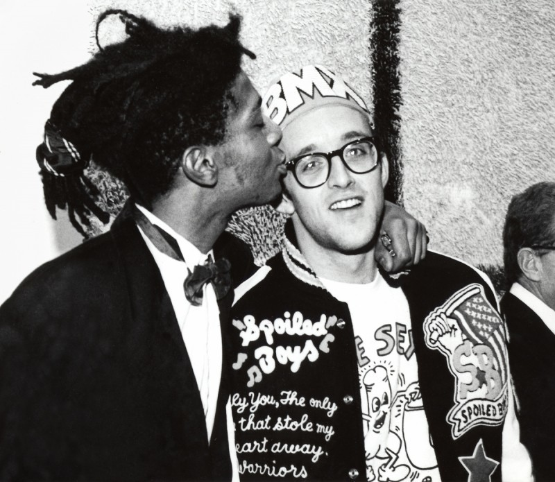 Basquiat with Keith Haring. Photo: artribune.com