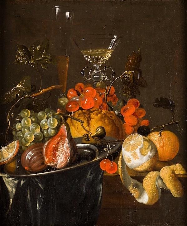 """Jan Davidszoon de Heem, """"Stilleben med frukt""""."""
