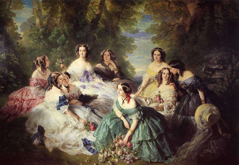 """Franz Xaver Winterhalter, Franz Xaver Winterhalter, """"L'impératrice Eugénie entourée des dames d'honneur du palais"""" (1855)"""