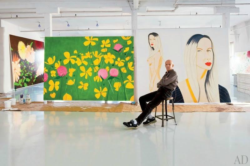 Alex Katz dans son atelier Image: AD