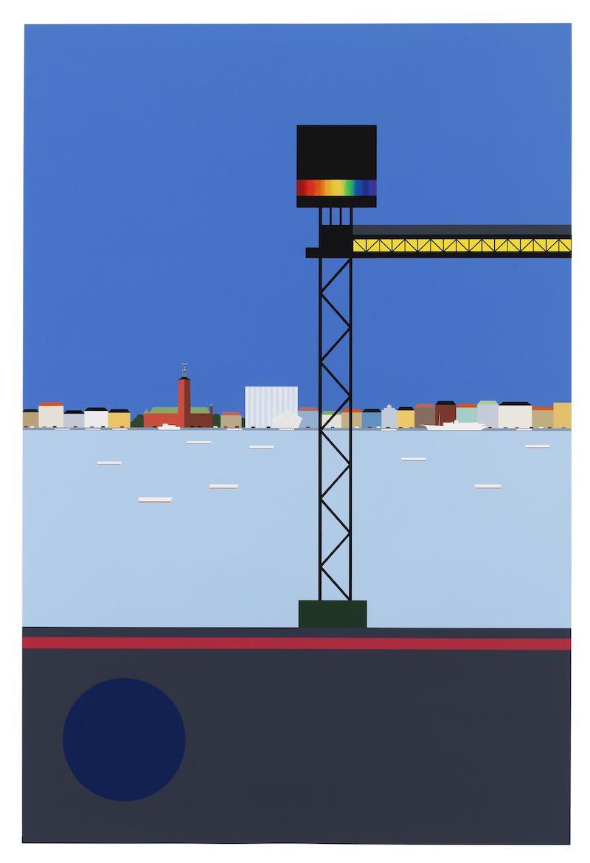 """""""Panorama"""", grafiskt blad av K G Nilson, 120 x 70 cm, 150 ex. Ges ut i samarbete med SVD accent"""