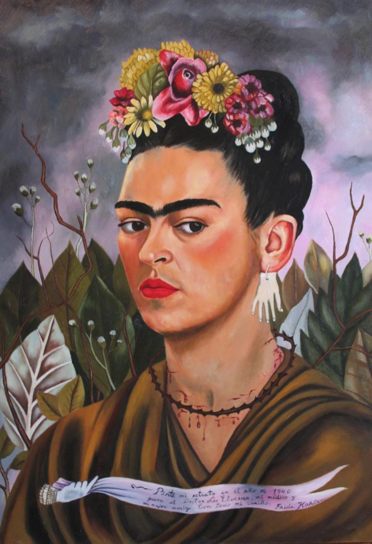Frida Kahlo, självporträtt (1940) Foto: Huffingtonpost.com