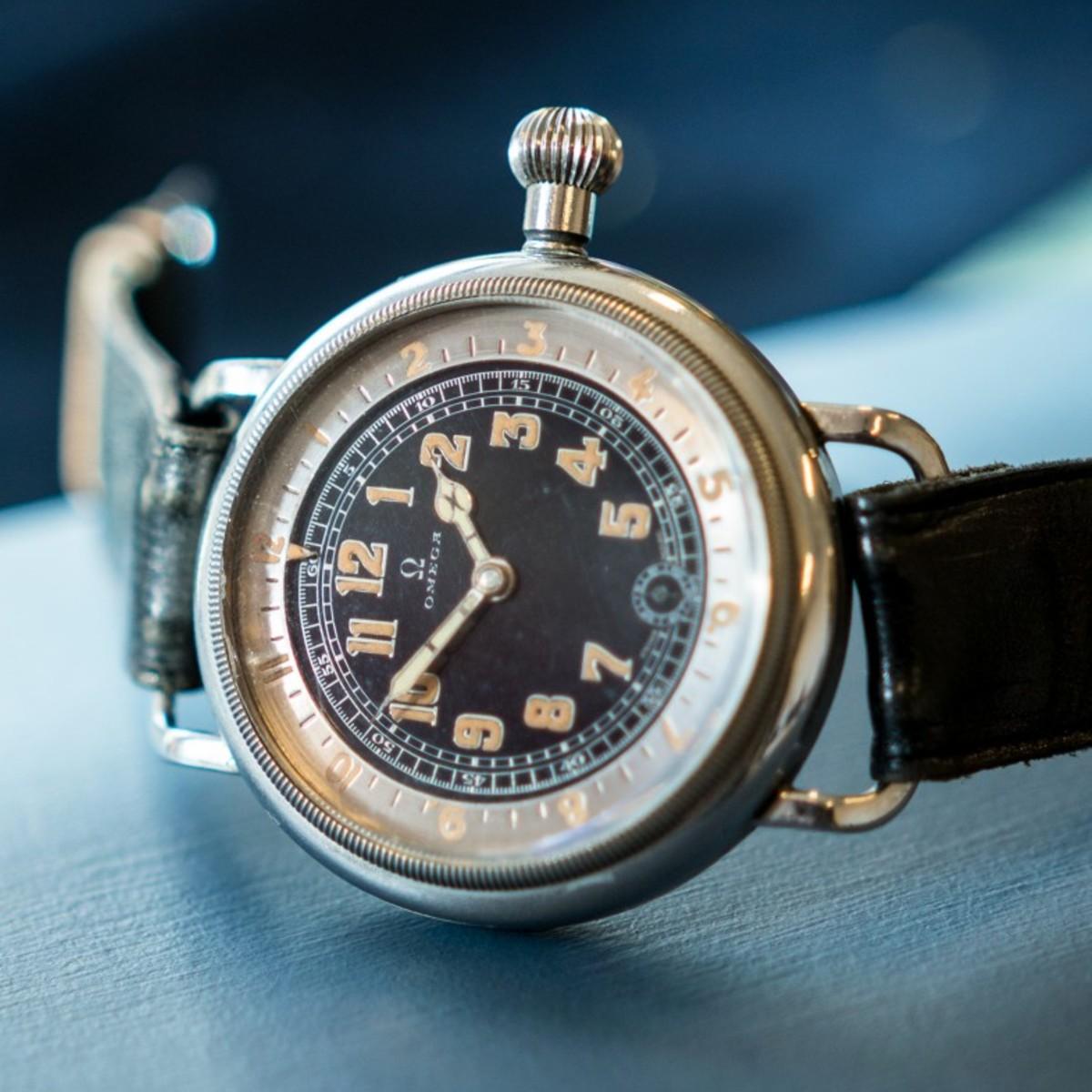 "Omega ""Pilot´s Watch"", 46mm, 1932, LOT1, Important Watches, 14/5 2016.(photo: kaplans.se)"