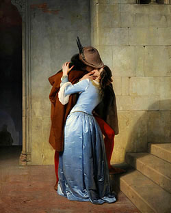 FRANCESCO HAYEZ - Der Kuss, 1859 Abb. via mein-italien.info