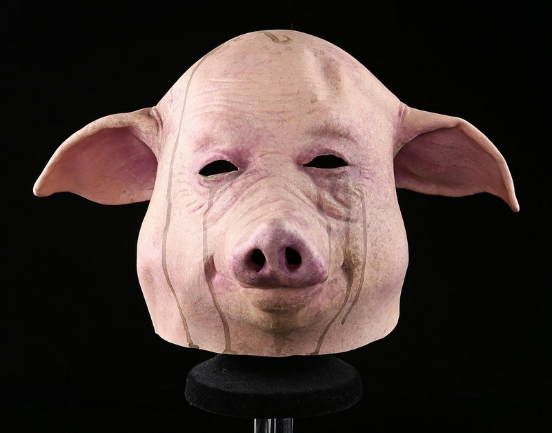 Pighead mask. Photo: Prop Store