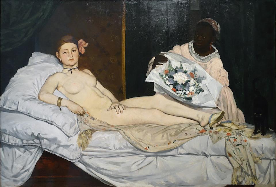 Édouard Manet, Olympia, 1863, huile sur toile, 130 x 190 cm (Musée d'Orsay, Paris)