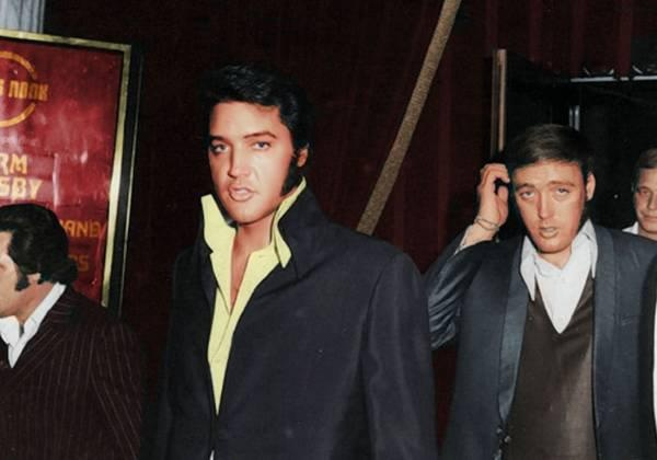 Elvis with Richard Davis Image via iheartelvis.net