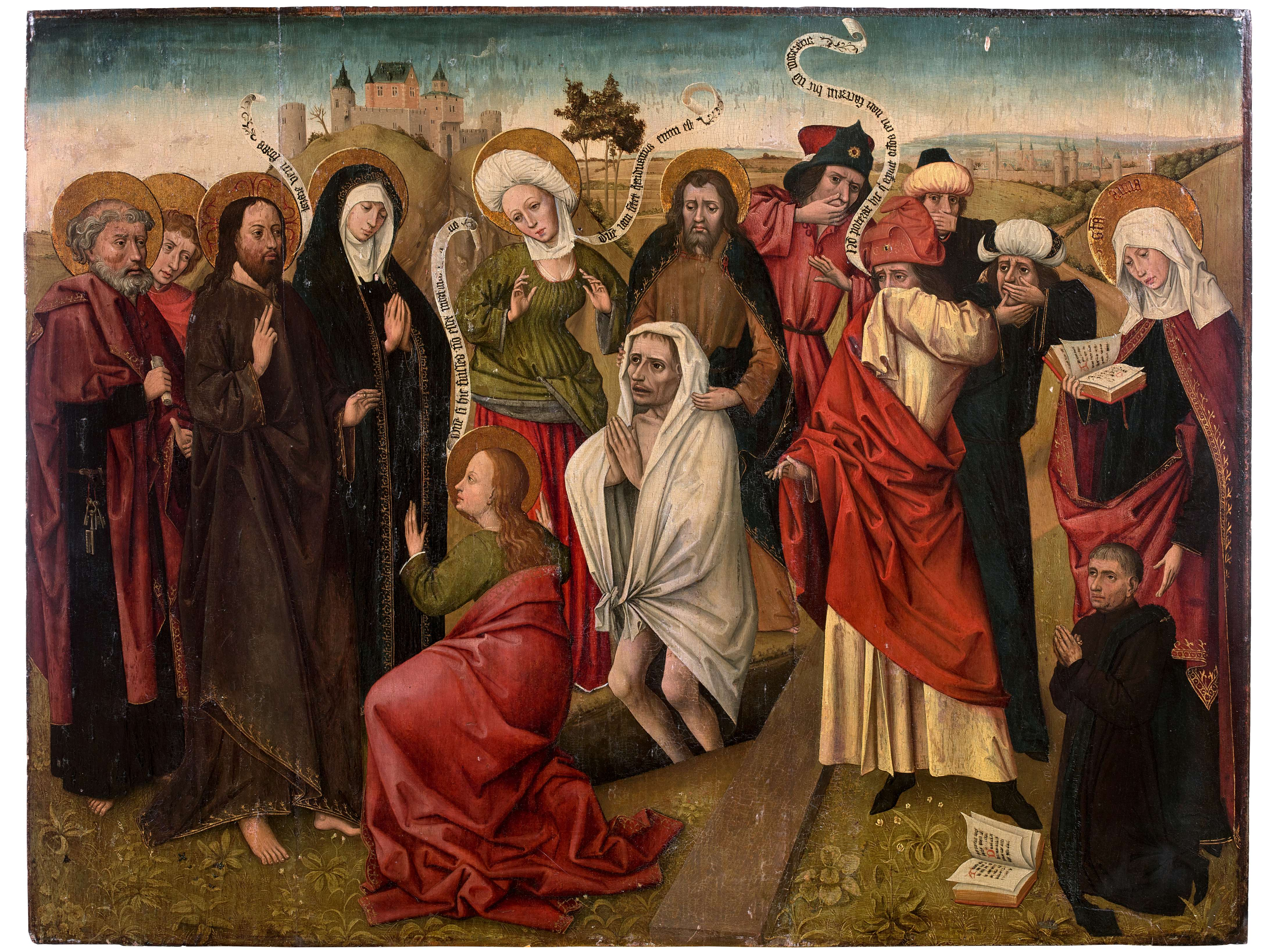 'The Resurrection of Lazarus, with a donor', second half of the 15th century. Photo: Artcurial