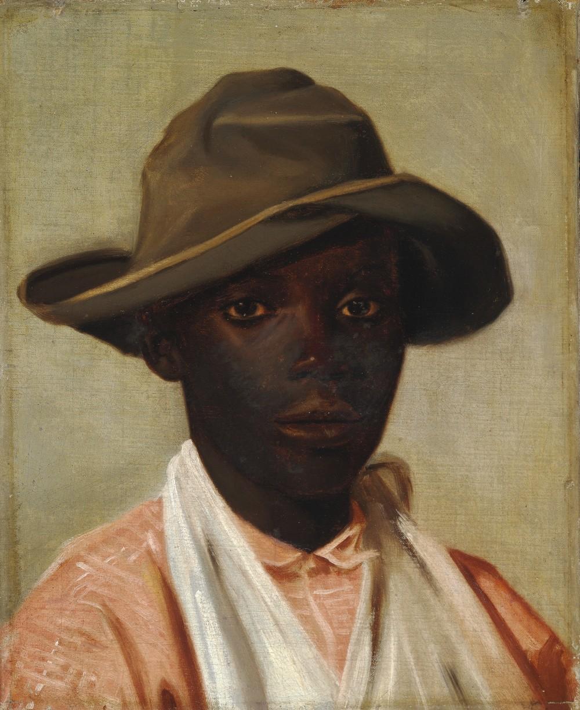 CAMILLE PISSARRO - Portrait eines Jungen, 1852-55